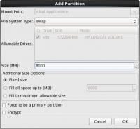 Add Swap Partition