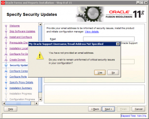 Oracle Reports Installation 11g Screen 8