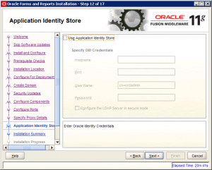 Oracle Reports Installation 11g Screen 12
