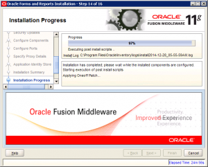 Oracle Reports Installation 11g Screen 14