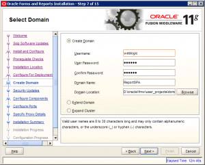 Oracle Reports Installation 11g Screen 7