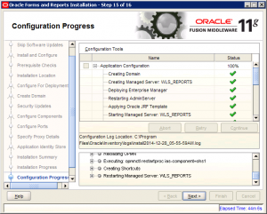 Oracle Reports Installation 11g Screen 15