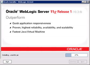 WebLogic Install Screen 10