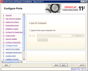 Oracle Reports Installation 11g Screen 10