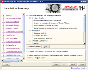 Oracle Reports Installation 11g Screen 13