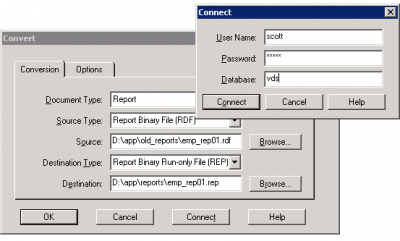 Oracle Reports Converter GUI