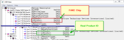 FTDI FT232rl Fake Chip erkennen