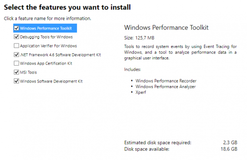 Installation Windows SDK für Windows 10