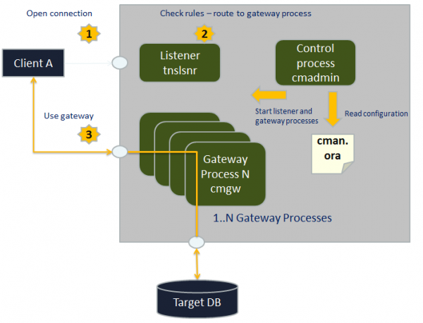 Oracle Connection Manager Process Overview
