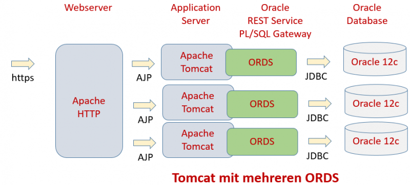 Multiple Tomcat instances with Oracle ORDS